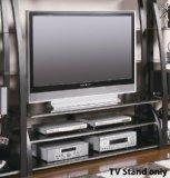 Coaster 2-Shelf TV Console Matte Black