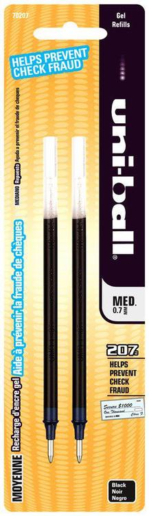 Uni Ball 70207Pp Uni Refil Black 2Pk