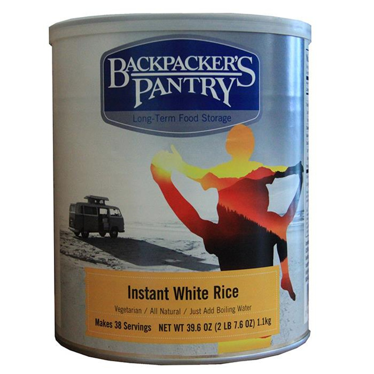 Instant White Rice Can
