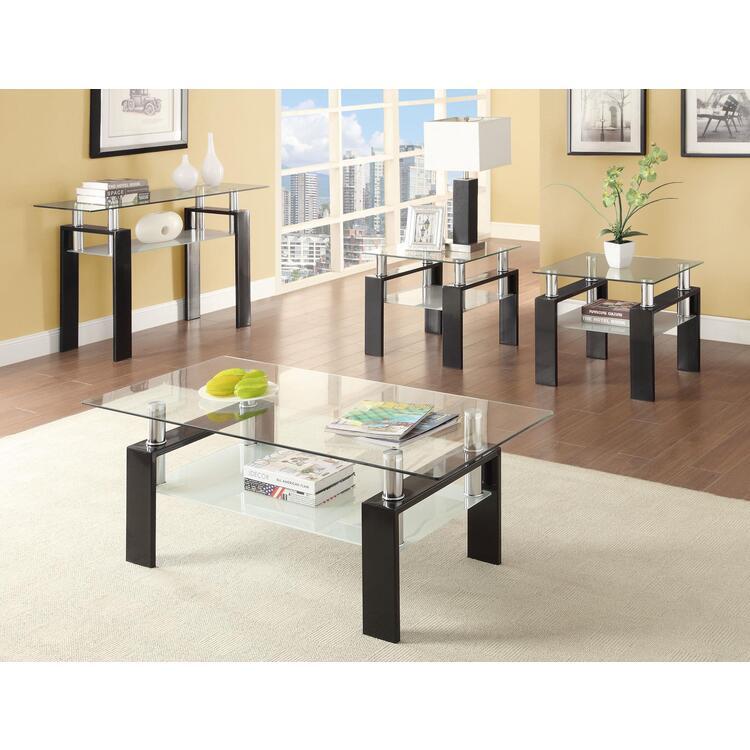Coaster Occasional Contemporary Black Sofa Table