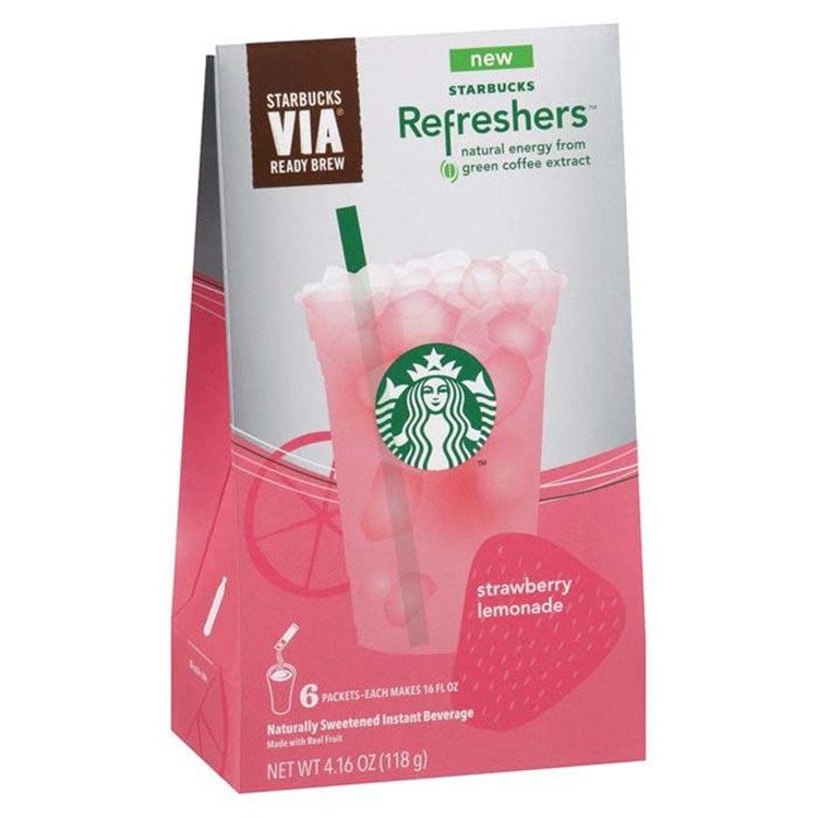 Starbucks Refresh Stra/Lmn 6Pk