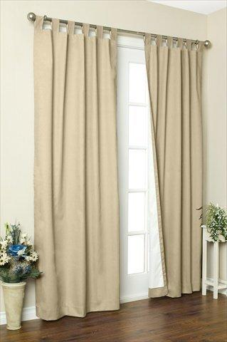 ThermaLogic Weathermate Insulated Solid Color Tab Top Curtain (Set of two)