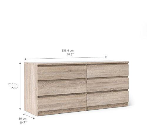 Tvilum 6 Drawer Double Dresser [Item # 70296cj]