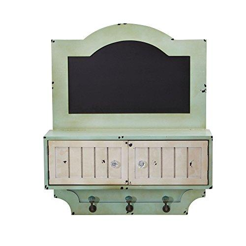 Nearly Natural 21.5' Vintage Chalkboard Wall Organizer With Doors and Hooks