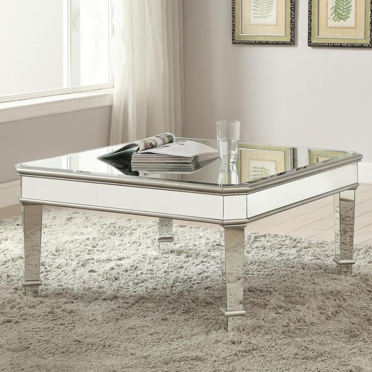 Coaster Contemporary Silver Coffee Table