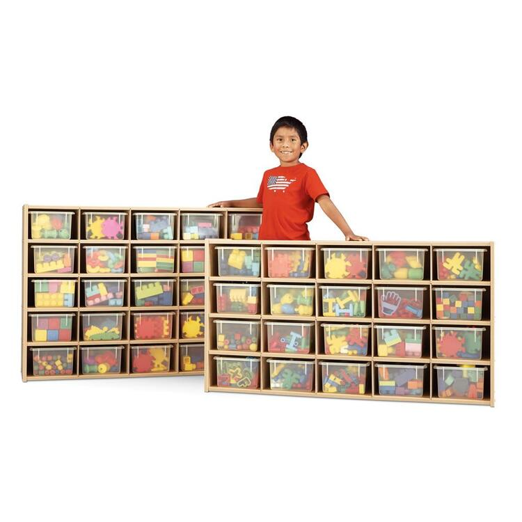 Young Time® 20 Cubbie-Tray Storage - with Clear Trays