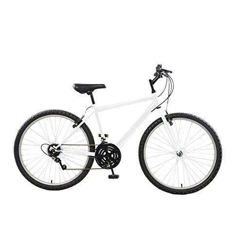 Rigid Mountain Bike, 26 inch wheels, 18 inch frame, Men's Bike, White