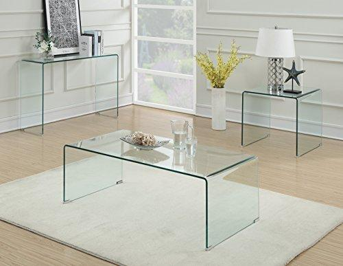 Coaster Contemporary Clear Coffee Table