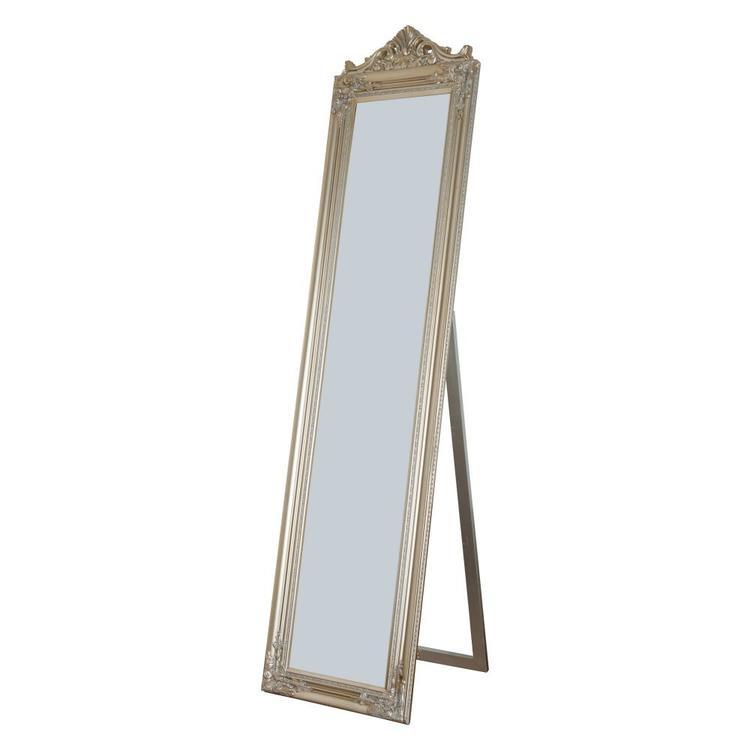Milton Green Stars Camilla Full Length Standing Mirror with Decorative Design, Champagne