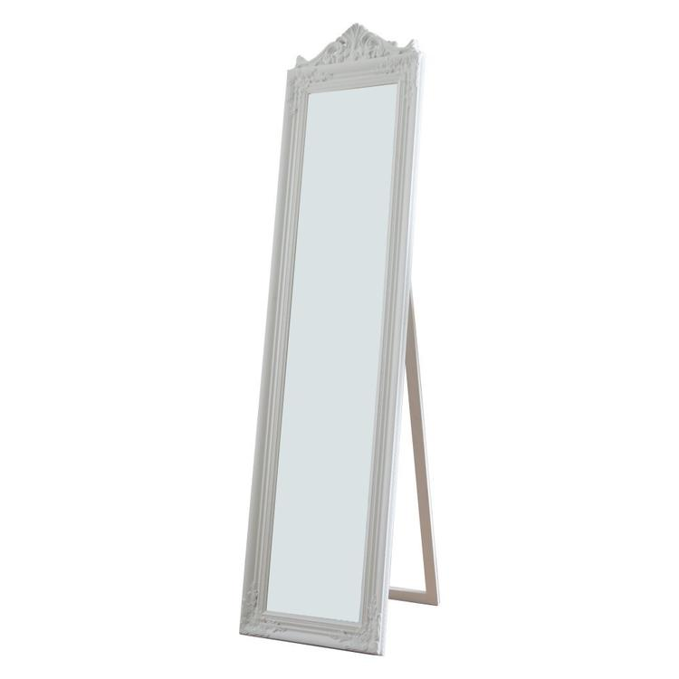 Milton Green Stars Camilla Full Length Standing Mirror with Decorative Design, White