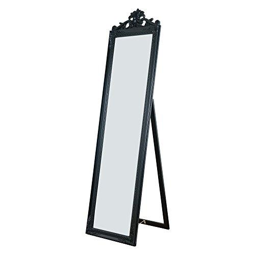 Milton Green Stars Gisela Full Length Standing Mirror with Decorative Design, Black