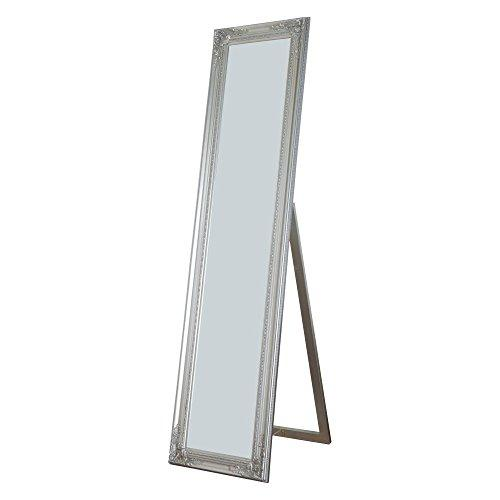 Milton Green Stars Cecilia Full Length Standing Mirror with Decorative Design, Silver