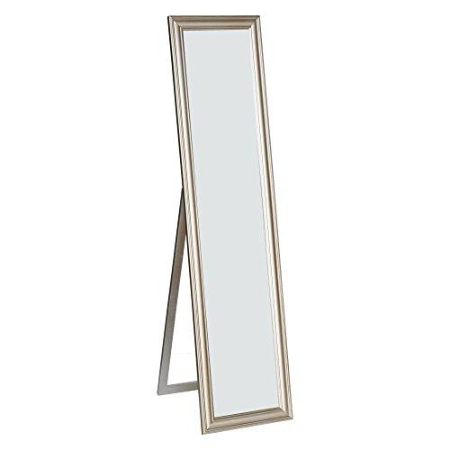 Elisabetta Full Length Standing Mirror with Decorative Design, Champagne