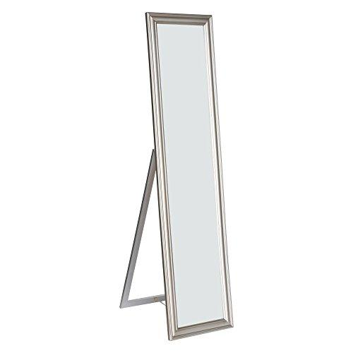 Milton Green Stars Elisabetta Full Length Standing Mirror with Decorative Design, Silver