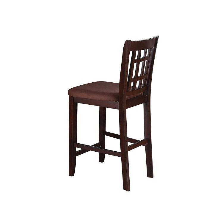 ACME Adalia Counter Height Chair (Set-2), Dark Chocolate MFB & Walnut