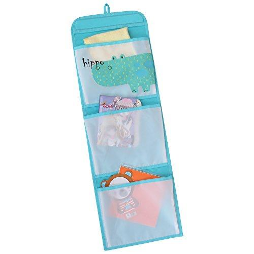 WC Redmon KIDS SAFARI Hippo Hanging Wall Pockets