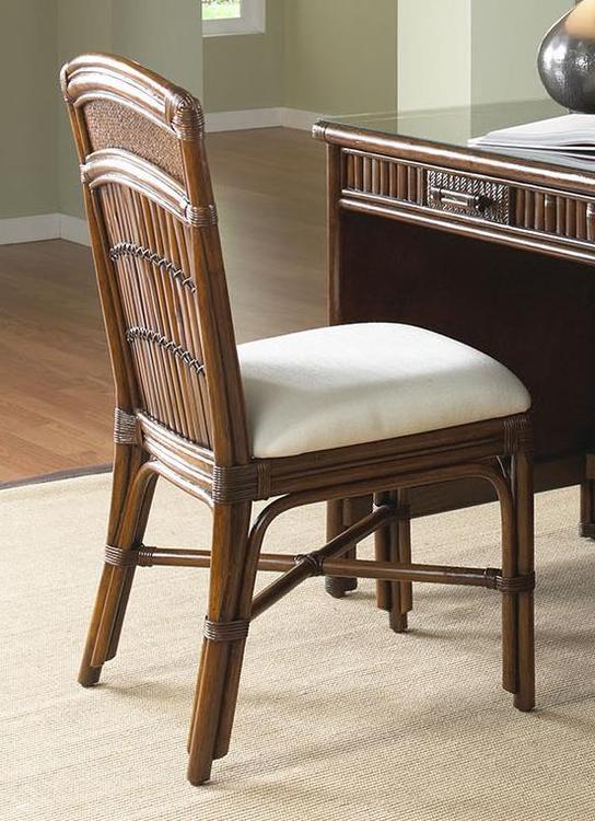 Polynesian Rattan & Bamboo Desk Chair