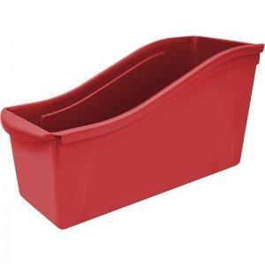 Storex Large Book Bin, Red, 6-Pack