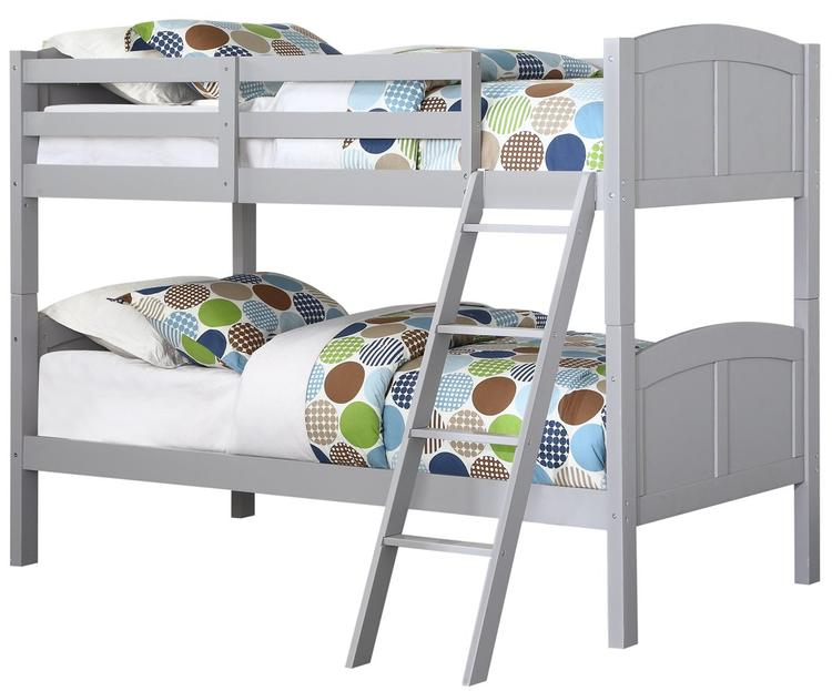 Angel Line Creston Twin over Twin Bunk Bed, Gray