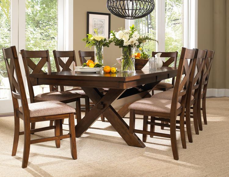 Powell 9 Piece Wooden Kraven Dining Set