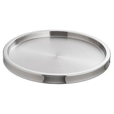 Luxe 13.5In Round Two Tone Stainless Tray [Item # 71414]