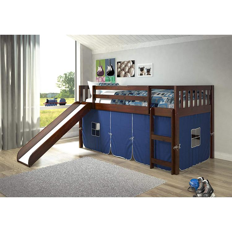 Donco Kids Mission Low Slide Loft Bed