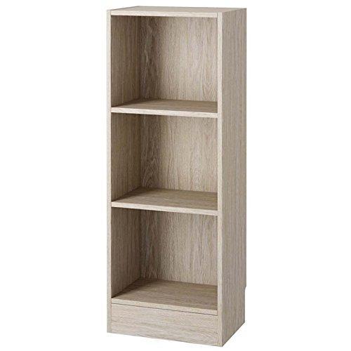 Short Narrow 3 Shelf Bookcase