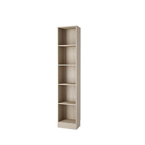 Tall Narrow 5 Shelf Bookcase