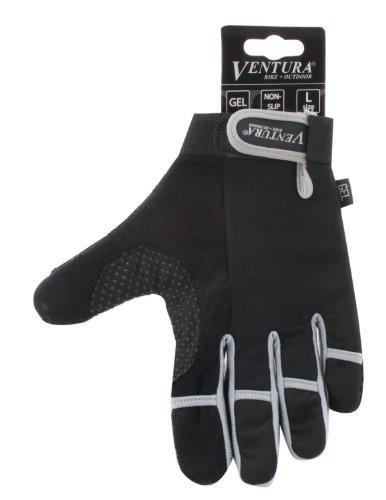 Gray Full Finger Touch Gloves in Size L