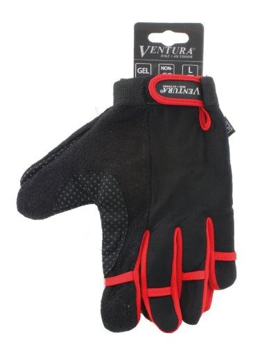 Red Full Finger Touch Gloves in Size L