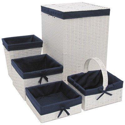 Five PC Hamper and Basket Set