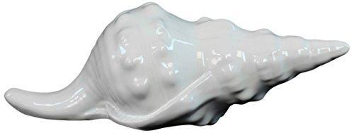 UTC72100 Ceramic Conch Seashell Figurine Gloss Finish White