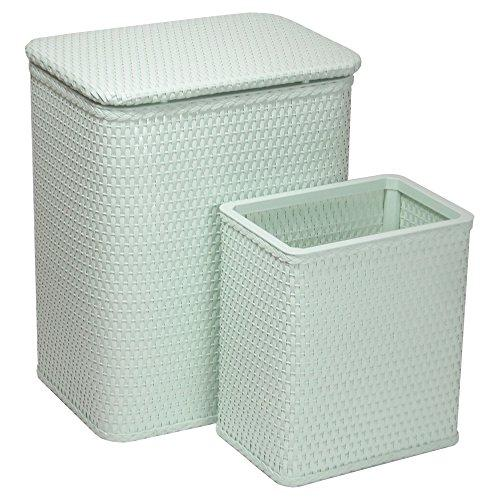 Chelsea Pattern Wicker Nursery Hamper and Matching Wastebasket Set