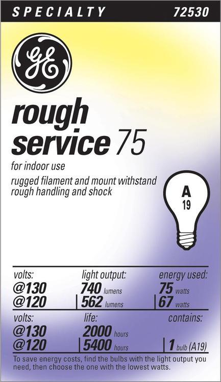 GE Lighting 72530 75A/Rs130 Rough Serv