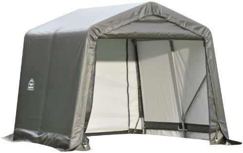 ShelterLogic 10x12x8 Peak Style Shelter, Grey Cover