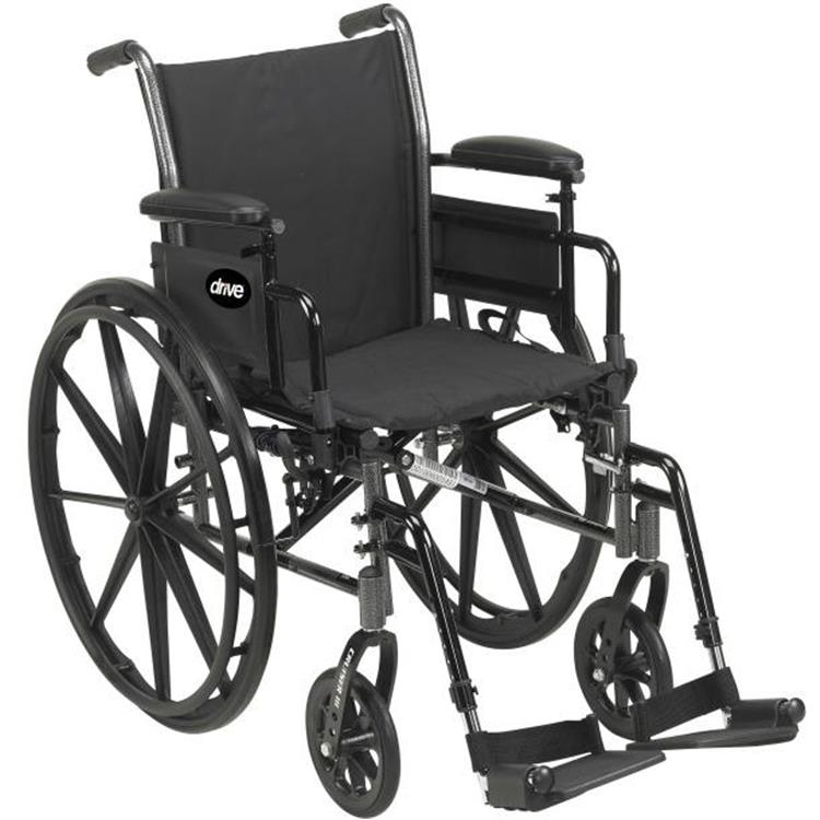 Drive Medical Cruiser III Light Weight Wheelchair with Flip Back Removable Arms [Item # K318DDA-SF]