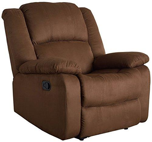 Microfiber Recliner, Chocolate Color