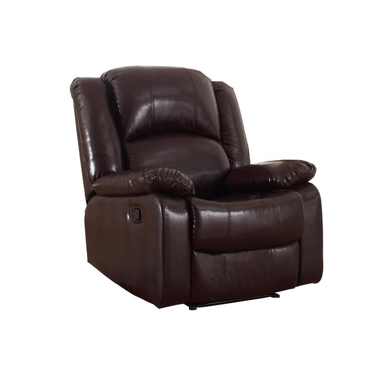 Nathaniel Home Bonded Leather Glider Recliner