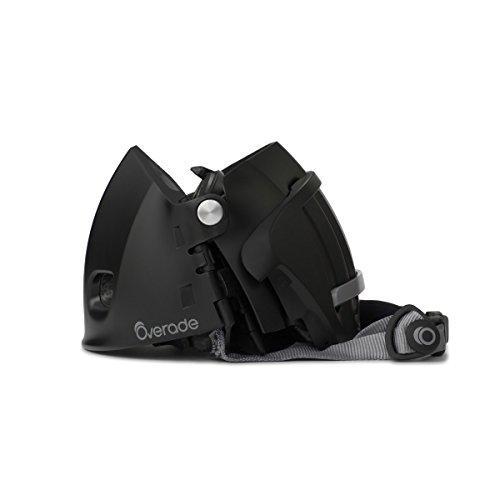 Plixi Foldable Bicycle Helmet, Black, 54-58 cm