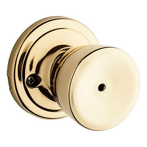 Kwikset 730A-3GC Abbey Privacy Door Lock Bright Brass Finish with New Chassis