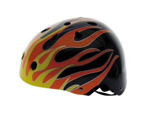 Black Flames Freestyle Helmet L (54-58 cm)