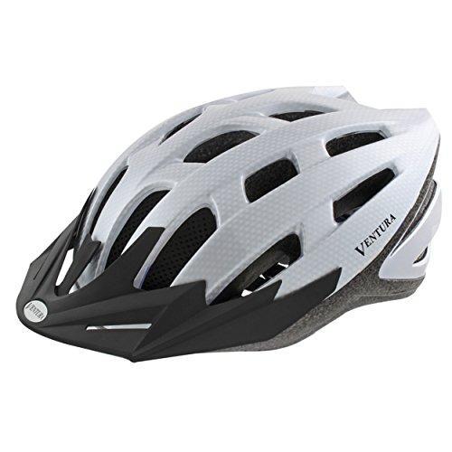 White Carbon Sport Helmet M (54-58 cm)