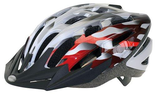 Silver/Red In-Mold Helmet in Size  L (58-61 cm)