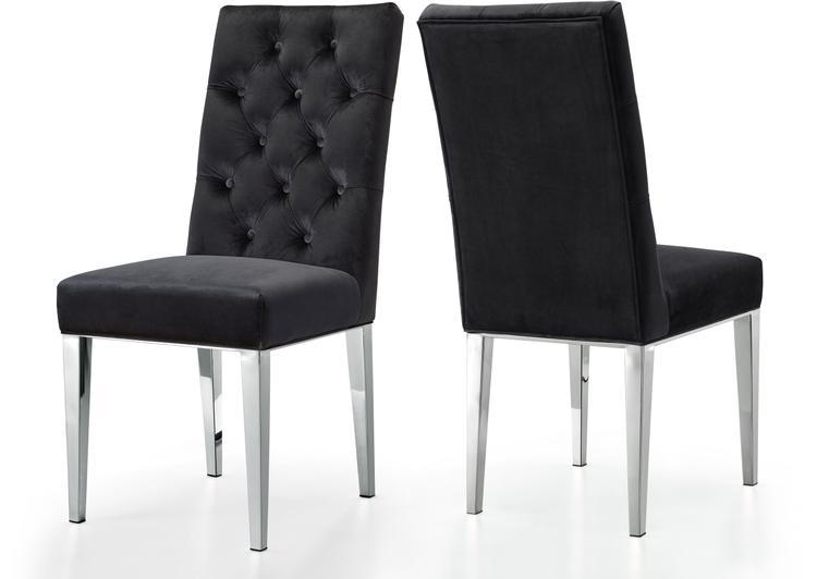 Juno Black Velvet Dining Chair, Set of 2