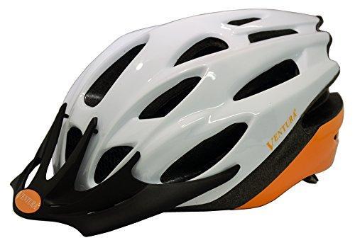 White/Orange In-Mold Helmet in Size  L (58-61 cm)