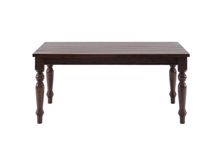 Urban Lodge Rustic Hewn Rectangle Fixed Top Table