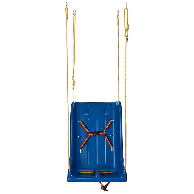Full support swing seat with pommel, large (adult), with rope