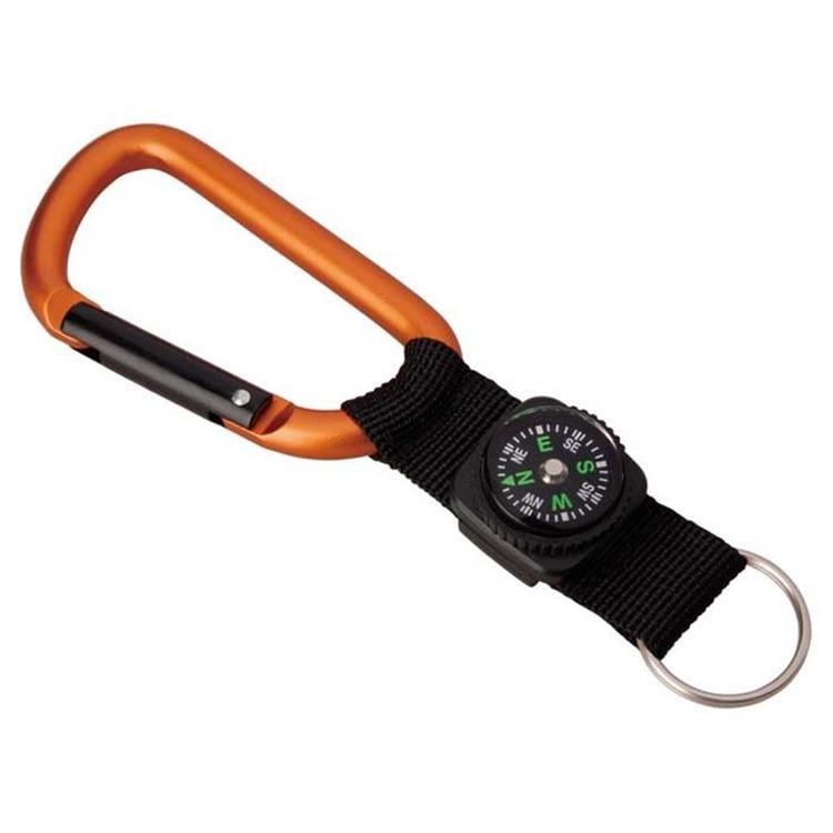 8 Mm Carabiner W/Compass Strap