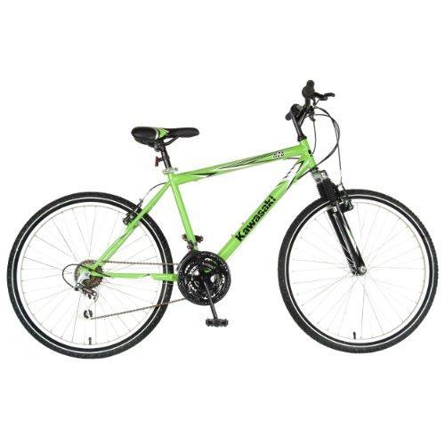 K26 Hardtail Mountain Bike, 26 inch wheels, 18 inch frame, Men's Bike, Green