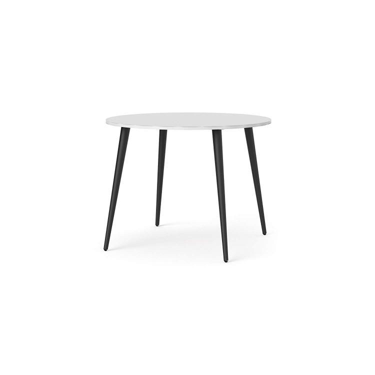 Tvilum 753864960 Diana Round Dining Table, White/Black [Item # 753864960]